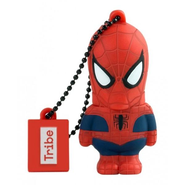 Tribe - Spider Man - Marvel - Chiavetta di Memoria USB 16 GB - Pendrive - Archiviazione Dati - Flash Drive