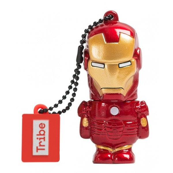 Tribe - Iron Man - Marvel - Chiavetta di Memoria USB 8 GB - Pendrive - Archiviazione Dati - Flash Drive
