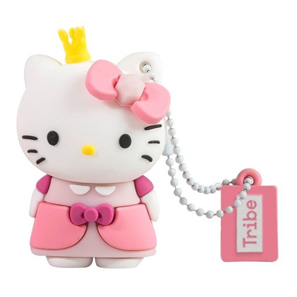 Tribe - Hello Kitty Princess - Hello Kitty - Chiavetta di Memoria USB 8 GB - Pendrive - Archiviazione Dati - Flash Drive
