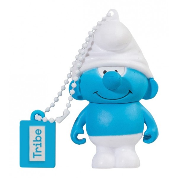 Tribe - Puffo Tontolone - I Puffi - Chiavetta di Memoria USB 16 GB - Pendrive - Archiviazione Dati - Flash Drive