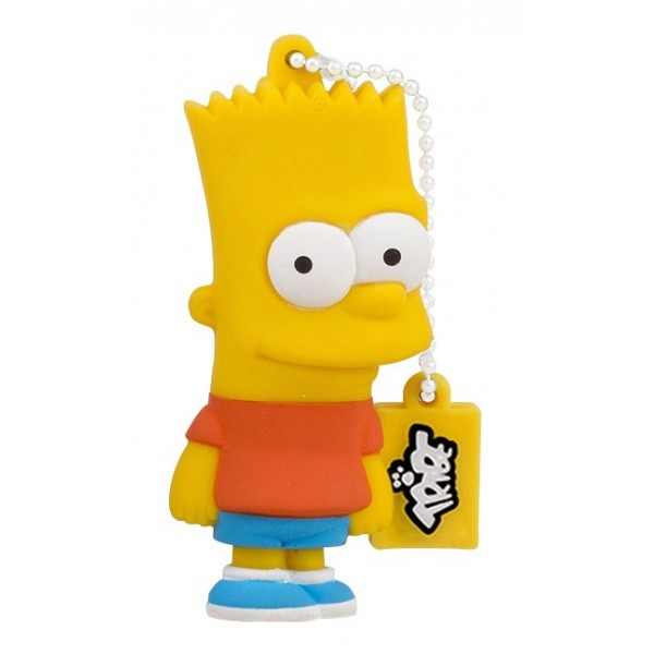 Tribe - Bart - The Simpsons - Chiavetta di Memoria USB 8 GB - Pendrive - Archiviazione Dati - Flash Drive