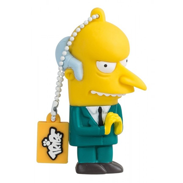 Tribe - Mr. Burns - The Simpsons - Chiavetta di Memoria USB 8 GB - Pendrive - Archiviazione Dati - Flash Drive