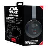 Tribe - Darth Vader - Star Wars - Episodio VII - Cuffie con Microfono Pieghevoli - Jack 3,5 mm - Smartphone, PC, PS4, Xbox