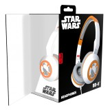 Tribe - BB-8 - Star Wars - Episodio VII - Cuffie con Microfono Pieghevoli - Jack 3,5 mm - Smartphone, PC, PS4 e Xbox