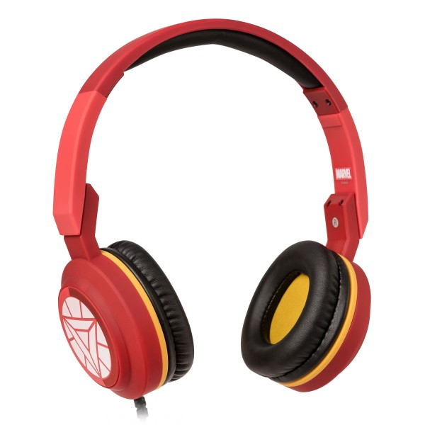 Tribe - Iron Man - Marvel - Headphones with Foldable Microphone - 3.5 mm Jack - Smartphone, PC, PS4 and Xbox