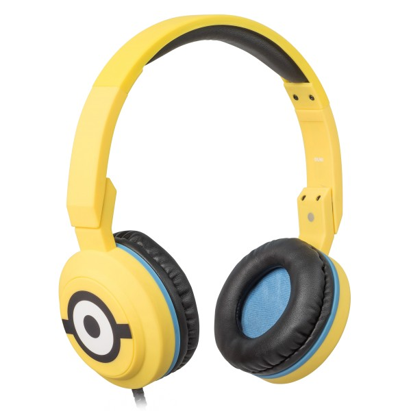 Tribe - Carl - Minions - Headphones with Foldable Microphone - 3.5 mm Jack - Smartphone, PC, PS4 and Xbox