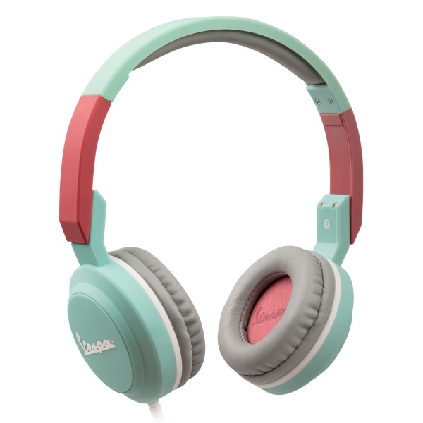 Tribe - Vespa Aquamarine - Vespa Special - Headphones with Foldable Microphone - 3.5 mm Jack - Smartphone, PC, PS4 and Xbox