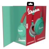 Tribe - Vespa Acquamarina - Vespa Special - Cuffie con Microfono Pieghevoli - Jack 3,5 mm - Smartphone, PC, PS4 e Xbox