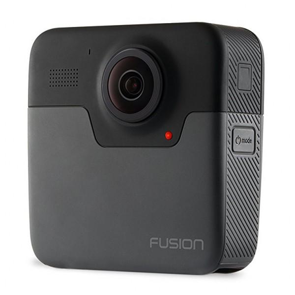 GoPro - Fusion - Videocamera d'Azione Professionale Subaquea 4K - Video Sferici 5K - Videocamera Professionale