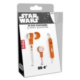 Tribe - BB-8 - Star Wars - Episodio VII - Auricolari con Microfono e Comando Multifunzionale - Smartphone