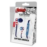 Tribe - Captain America - Marvel - Auricolari con Microfono e Comando Multifunzionale - Smartphone
