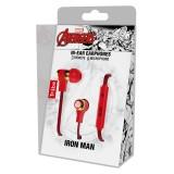 Tribe - Iron Man - Marvel - Auricolari con Microfono e Comando Multifunzionale - Smartphone