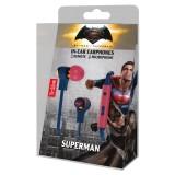 Tribe - Superman - DC Comics - Auricolari con Microfono e Comando Multifunzionale - Smartphone