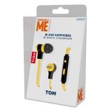 Tribe - Tom - Minions - Cattivissimo Me - Auricolari con Microfono e Comando Multifunzionale - Smartphone