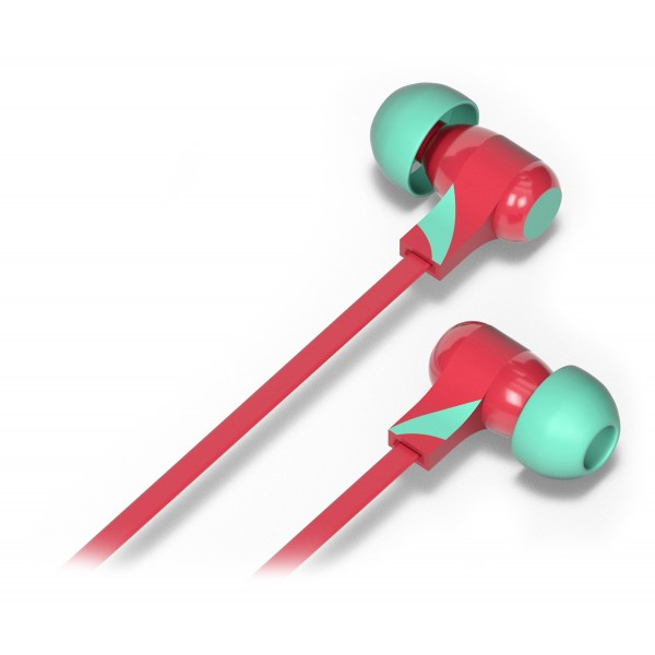Tribe - Berry - Vespa - Earphones with Microphone and Multifunctional Command - Smartphone