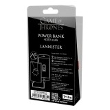 Tribe - Lannister - Trono di Spade - Caricabatteria Portatile USB - Power Bank - 4000 mAh - iPhone, iPad, Tablet, Smartphone