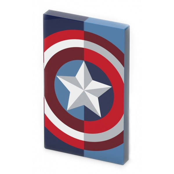 Tribe - Captain America - Marvel - Caricabatteria Portatile USB - Power Bank - 4000 mAh - iPhone, iPad, Tablet, Smartphone