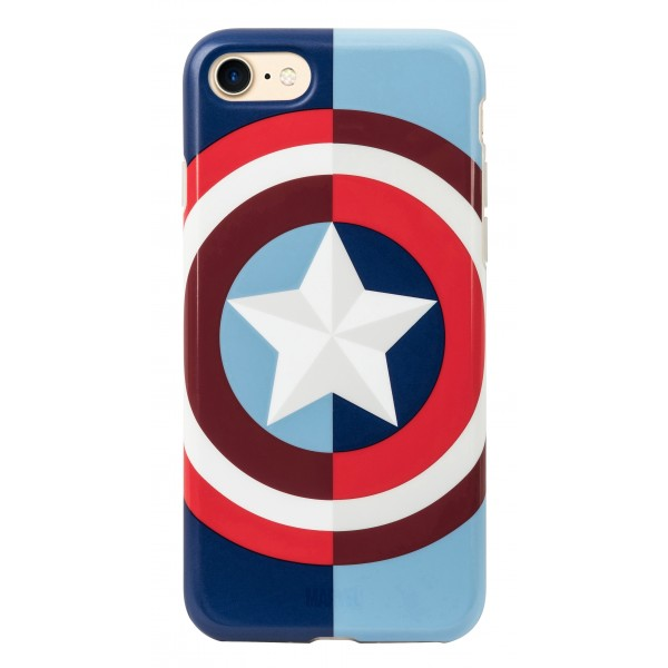 Tribe - Captain America - Marvel - Cover iPhone 8 / 7 - Custodia Smartphone - TPU - Protezione Lati e Posteriore
