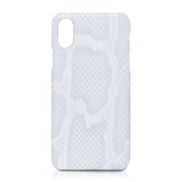 Ammoment - Pitone in Bianco Saba - Cover in Pelle - iPhone X