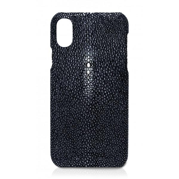 Ammoment - Razza in Nero - Cover in Pelle - iPhone X
