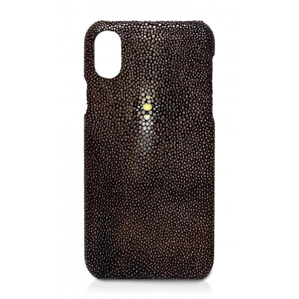 Ammoment - Razza in Marrone - Cover in Pelle - iPhone X