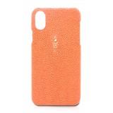 Ammoment - Razza in Arancione - Cover in Pelle - iPhone X