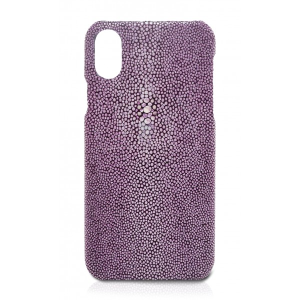 Ammoment - Razza in Viola - Cover in Pelle - iPhone X
