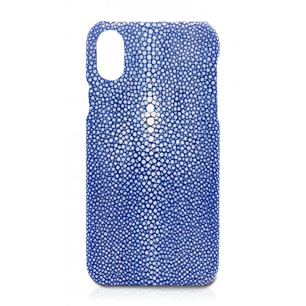 Ammoment - Razza in Blu - Cover in Pelle - iPhone X