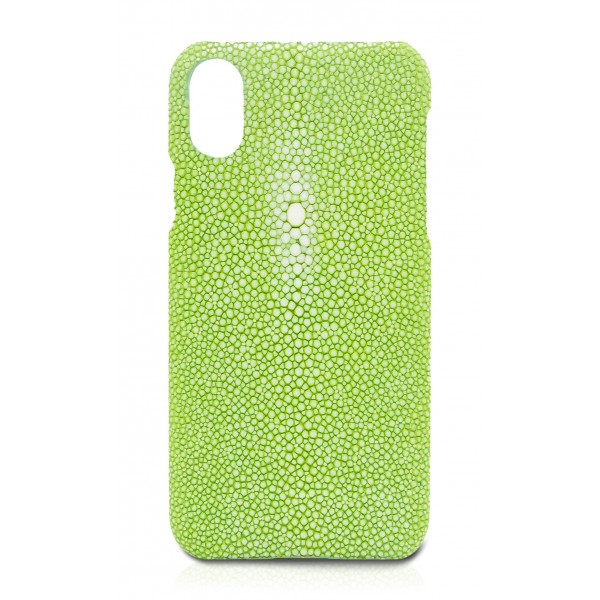 Ammoment - Razza in Verde Chiaro - Cover in Pelle - iPhone X