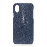 Ammoment - Razza in Navy - Cover in Pelle - iPhone X