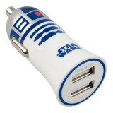 Tribe - R2-D2 - Star Wars - Caricatore da Auto Doppio - Fast Car Charger - Caricatore USB - iPhone, iPad, Tablet, Samsung