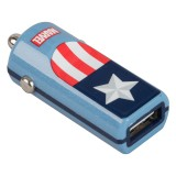 Tribe - Captain America - Marvel - Caricatore da Auto - Fast Car Charger - Caricatore USB - iPhone, iPad, Tablet, Samsung