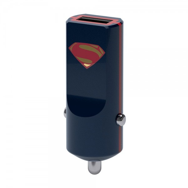 Tribe - Superman - DC Comics - Caricatore da Auto - Fast Car Charger - Caricatore USB - iPhone, iPad, Tablet, Samsung