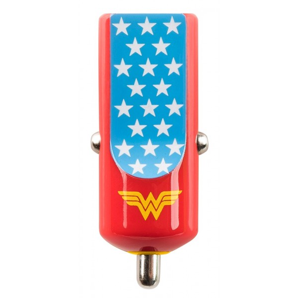 Tribe - Wonder Woman - Universe - DC Comics - Caricatore da Auto - Fast Car Charger - Caricatore USB - iPhone iPad Samsung