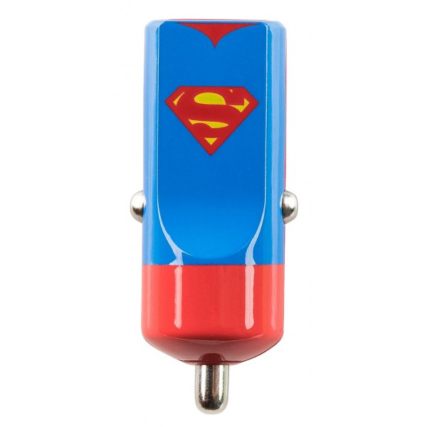 Tribe - Superman - Uomo d'Acciaio - DC Comics - Caricatore da Auto - Fast Car Charger - Caricatore USB - iPhone, iPad, Tablet