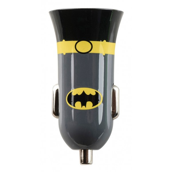 Tribe - Batman - Cavaliere Oscuro - DC Comics - Caricatore da Auto Doppio - Fast Car Charger - Caricatore USB - iPhone, iPad