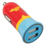 Tribe - Wonder Woman - Universe - DC Comics - Caricatore da Auto Doppio - Fast Car Charger - Caricatore USB - iPhone iPad