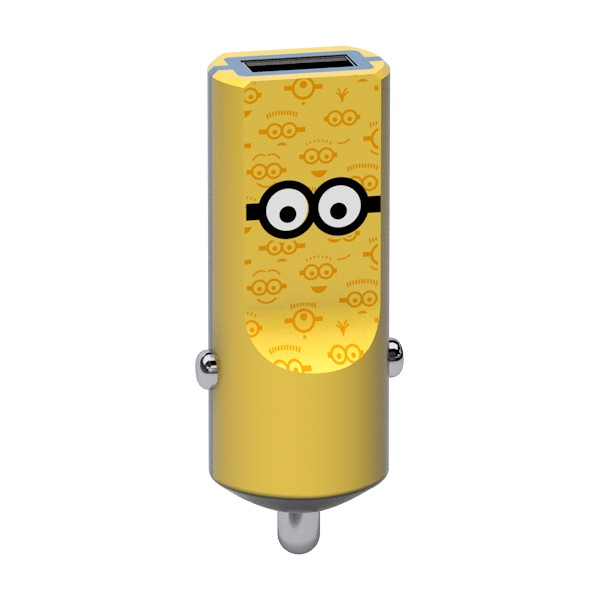 Tribe - Tom - Minions - Car Charger - Fast Car Charge - USB Charger - iPhone, iPad, Tablet, Samsung, Smartphone