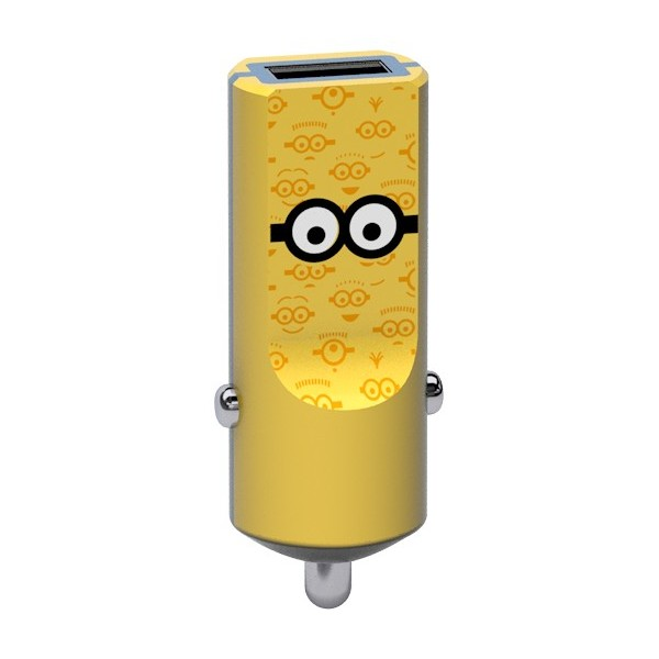 Tribe - Tom - Minions - Caricatore da Auto - Fast Car Charger - Caricatore USB - iPhone, iPad, Tablet, Samsung