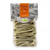 Pasta d'Alba - Tagliatelle agli Spinaci Bio - Linea Artigianale - Pasta Italiana Biologica Artigianale