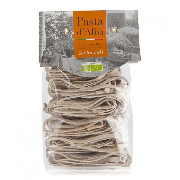 Pasta d'Alba - Tagliatelle ai Cinque Cereali Bio - Linea Artigianale - Pasta Italiana Biologica Artigianale