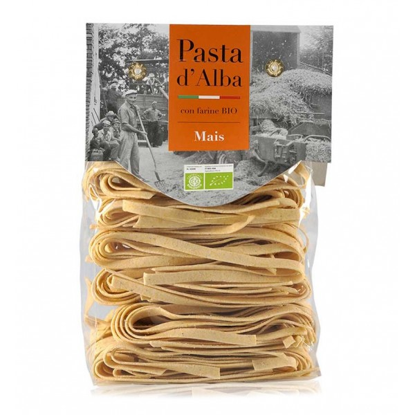 Pasta d'Alba - Tagliatelle al Mais Senatore Cappelli Bio - Linea Artigianale - Pasta Italiana Biologica Artigianale