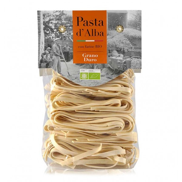 Pasta d'Alba - Tagliatelle al Grano Duro Bio - Linea Artigianale - Pasta Italiana Biologica Artigianale