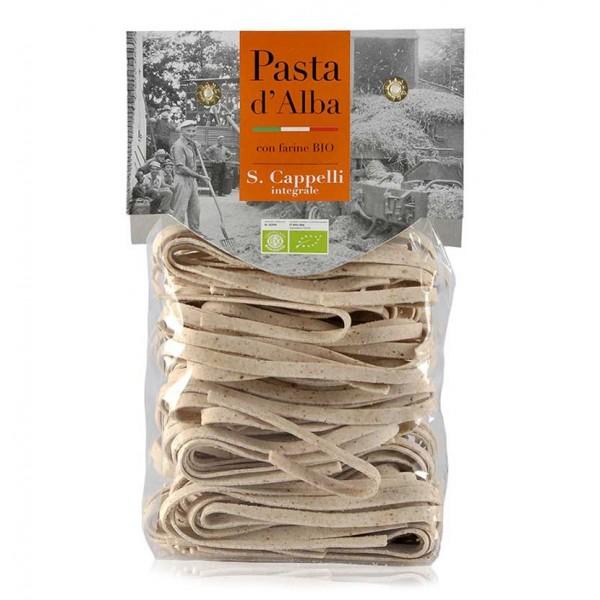 Pasta d'Alba - Tagliatelle al Grano Duro Integrale Senatore Cappelli Bio - Linea Artigianale - Pasta Italiana Biologica