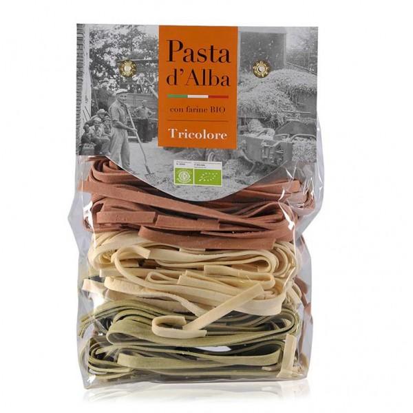 Pasta d'Alba - Tagliatelle Tricolore Bio - Linea Artigianale - Pasta Italiana Biologica Artigianale