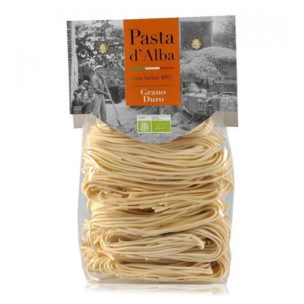 Pasta d'Alba - Tagliolini al Grano Duro Bio - Linea Artigianale - Pasta Italiana Biologica Artigianale