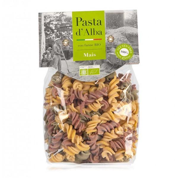Pasta d'Alba - Fusilli di Mais Tricolore Bio - Linea Senza Glutine - Pasta Italiana Biologica Artigianale
