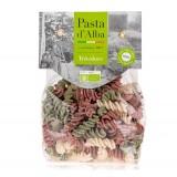 Pasta d'Alba - Fusilli di Riso Tricolore Bio - Linea Senza Glutine - Pasta Italiana Biologica Artigianale