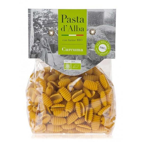 Pasta d'Alba - Gnocchetti di Riso e Curcuma Bio - Linea Senza Glutine - Pasta Italiana Biologica Artigianale