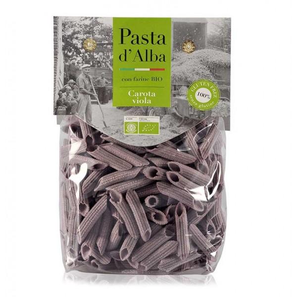 Pasta d'Alba - Penne alla Carota Viola Bio - Linea Senza Glutine - Pasta Italiana Biologica Artigianale